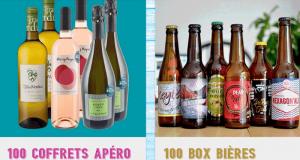 100 coffrets de vins et 100 box de bières