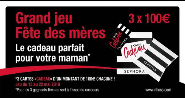 3 Cartes Cadeau Sephora De 100 Euros échantillons Gratuits