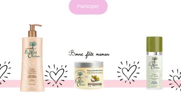 3 coffrets de produits Le Petit Olivier offerts