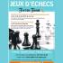 Atelier gratuit d'initiation et de perfectionnement aux Jeux d'échecs