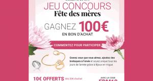 Bon d'achat Bijoux en vogue de 100 euros