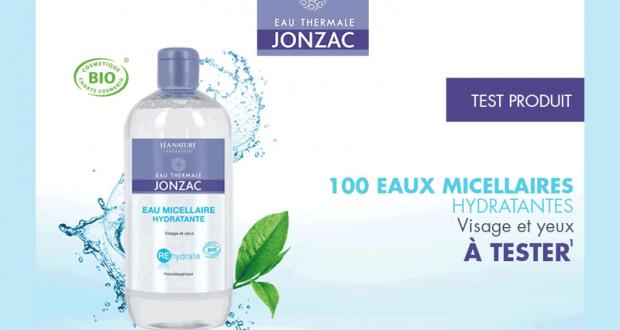 100 Eaux micellaires hydratantes visage et yeux Jonzac à tester