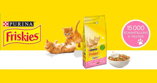 15 000 échantillons Croquettes pour chatons FRISKIES Junior