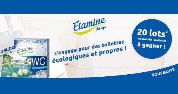 20 lots de produits sanitaires Etamine offerts