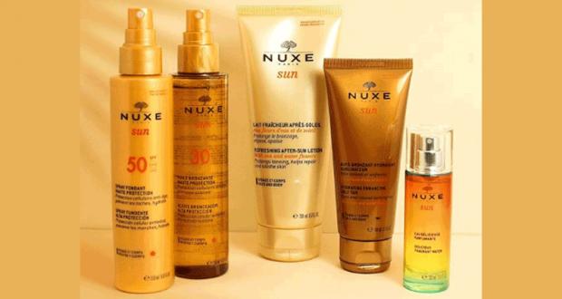 3 routines de 5 produits solaires Nuxe Sun offertes