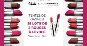 35 lots de 2 rouges à lèvres Nutrimetics offerts
