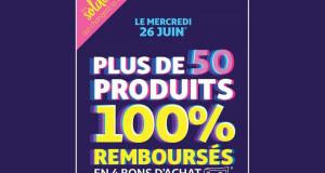 50 produits 100% Remboursés - Auchan