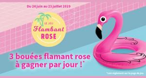 90 bouées Flamant Rose à gagner