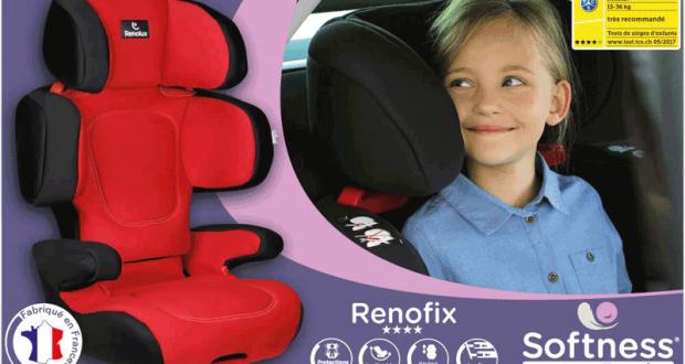 Testez le RENOFIX réhausseur Isofix inclinable Softness