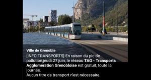 Transports en commun gratuits - TAG Grenoble