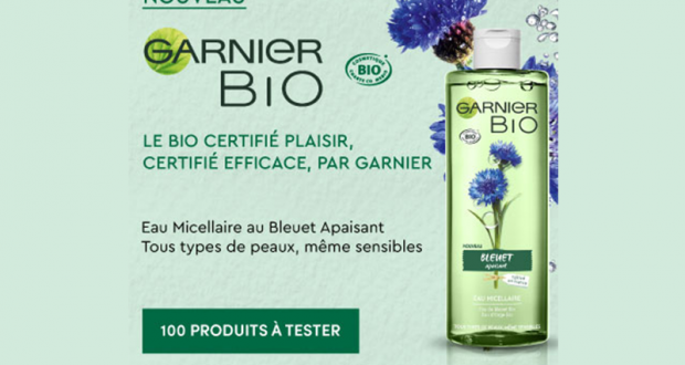 100 Eau Micellaire Bleuet Apaisant de Garnier Bio à tester