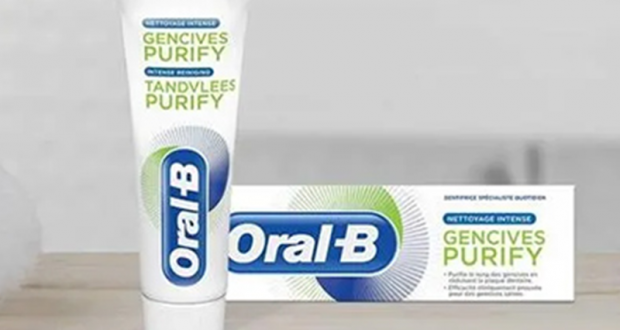 100 dentifrices Oral-B Gencives Purify offerts