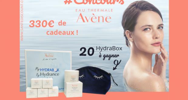 20 coffrets de soins Hydrance d'Avène offerts