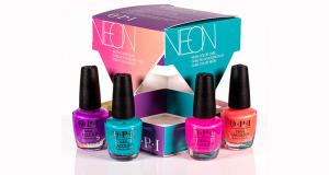3 coffrets de produits de beauté Opi Neon offerts