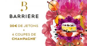 400 Bons de 20€ de jetons + 4 coupes de champagne
