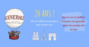 Survol Gratuit de Paris dans le Ballon Generali pour les Enfants