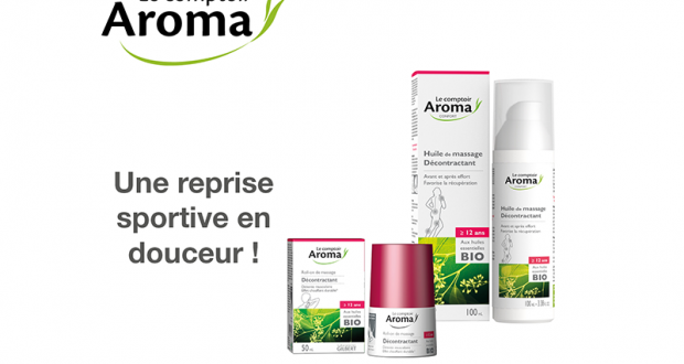 Testez le Kit roll on de massage + huile de massage Le Comptoir Aroma