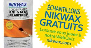 Échantillons Gratuits de Nikwax Concentrated Tent & Gear SolarProof