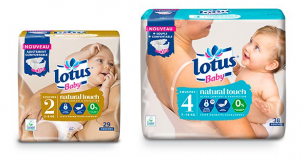 1800 Couches Lotus Baby Natural Touch à tester