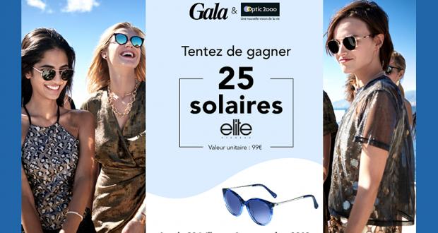 25 paires de lunettes solaires Elite offertes