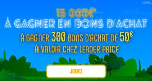 300 bons d'achat Leader Price de 50€ offerts