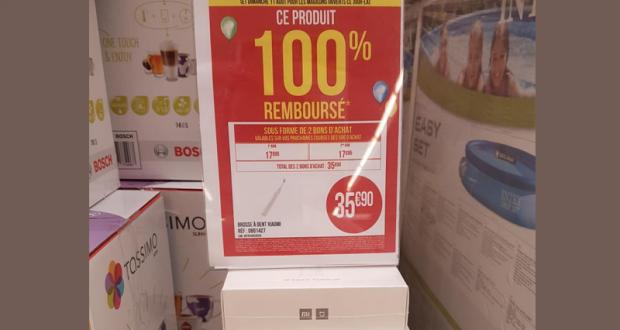 Brosse à dent électrique Xiaomi Mi Toothbrush 100% remboursée