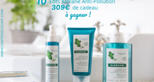 10 lots de 3 produits Klorane Anti-Pollution offerts