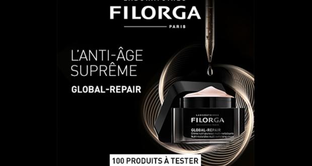 100 Crèmes Global-Repair des Laboratoires Filorga à tester