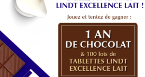 100 lots de 3 tablettes Lindt Excellence Lait offerts