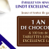 100 lots de 3 tablettes Lindt Excellence Lait offerts