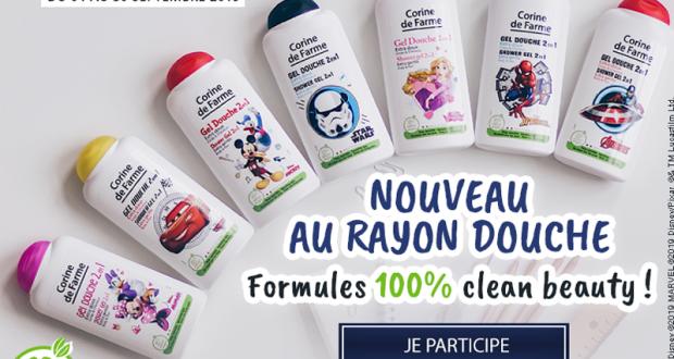 15 gels douche extra doux Corine de Farme offerts