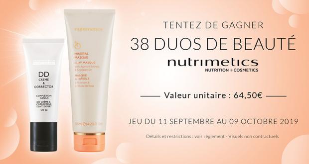 38 duos de beauté Nutrimetics offerts