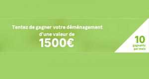 80 déménagements à gagner (Valeur unitaire 1 500 €)