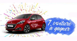 A gagner Une voiture Peugeot 208