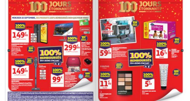 Auchan Produits 100% remboursés
