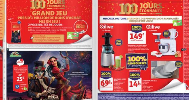 Auchan Produits 100% remboursés le 02 Octobre 2019