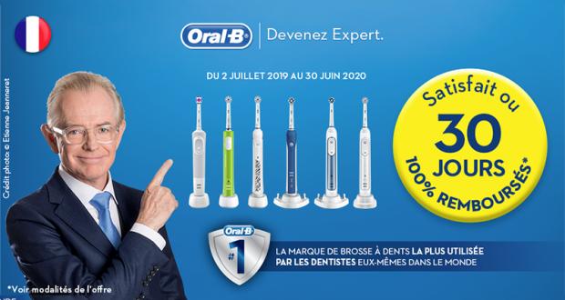 Brosse à dents électrique rechargeable Oral-B 100% remboursée