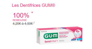 Dentifrice GUM 100% Remboursé