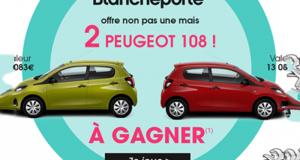 Gagnez 1 des 2 voitures Peugeot 108 de 13083€ chacune
