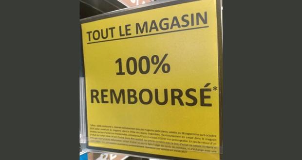 Opération 100% remboursé sur tout le magasin chez TATI