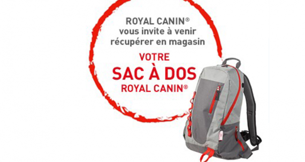 Sacs à dos Royal Canin offert sur simple visite