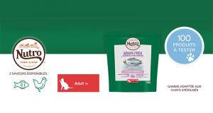 Testez les Croquettes pour Chat Adulte Nutro FEED CLEAN