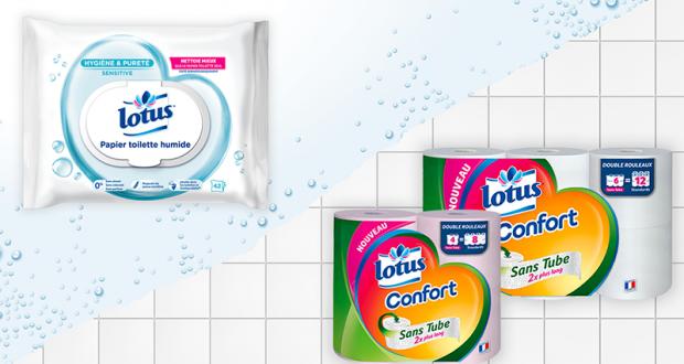 Testez les papiers toilette Lotus Confort et Lotus Sensitive