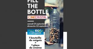 Une bouteille de mégots = Une place de cinéma offerte
