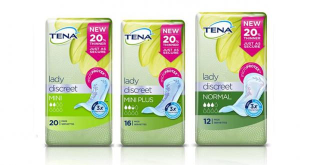Échantillons gratuits TENA Lady Discreet