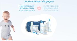 1 an de soins Rivadouce bébé ou 15 kits Rivadouce bébé offerts
