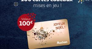 100 cartes cadeaux Auchan de 100€ offertes