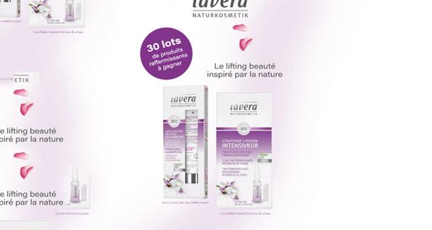 30 lots de 2 produits raffermissants Lavera offerts