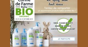 5 assortiments de produits de Baby BIO Corine de Farme offerts