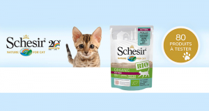 80 Sachets Humide pour chatons Kitten BIO Schesir à tester